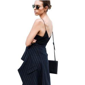 Alexander Wang black silk maxi long dress 90's